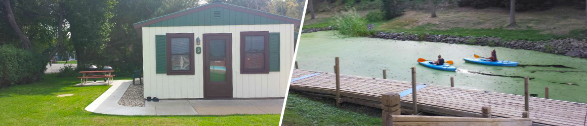 Comfotable cabins and a variety of boating options at Cozy Corner Cottages