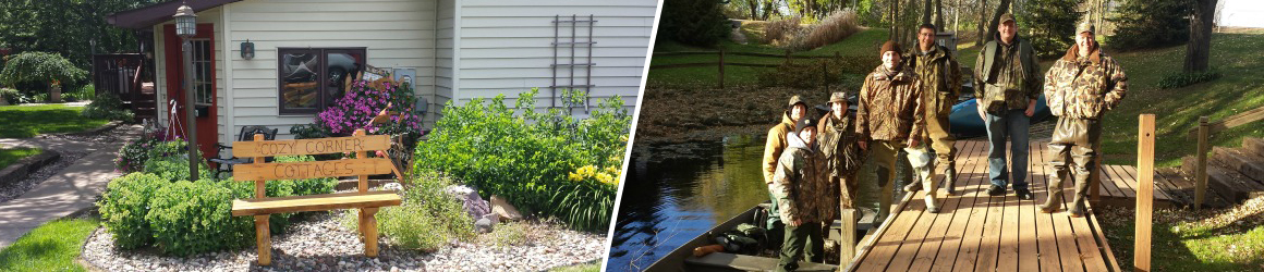 Cozy Corner Cottages - A great place for hunting and fishing in Southwestern Wisconsin